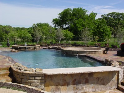 New Pool Construction In Southlake, TX